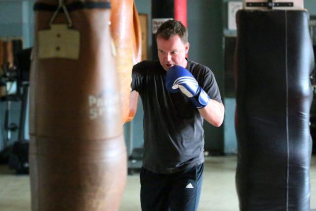 In der Freizeit betreibe ich Fitnesstraining und Kampfsport …